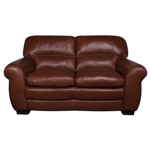 Morris Home Furnishings Ellis Ellis 100% Leather Loveseat