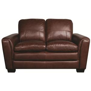Morris Home Furnishings Rowan Rowan 100% Leather Loveseat