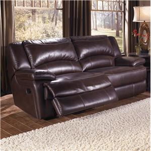 HTL T118 Double-Reclining Leather Sofa