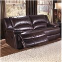 Double-Reclining Leather Sofa