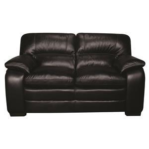Morris Home Furnishings Trey Trey 100% Leather Loveseat