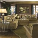 Huntington House 7100 Godfrey Sectional Sofa - Item Number: 7100-53+2x51+31+52
