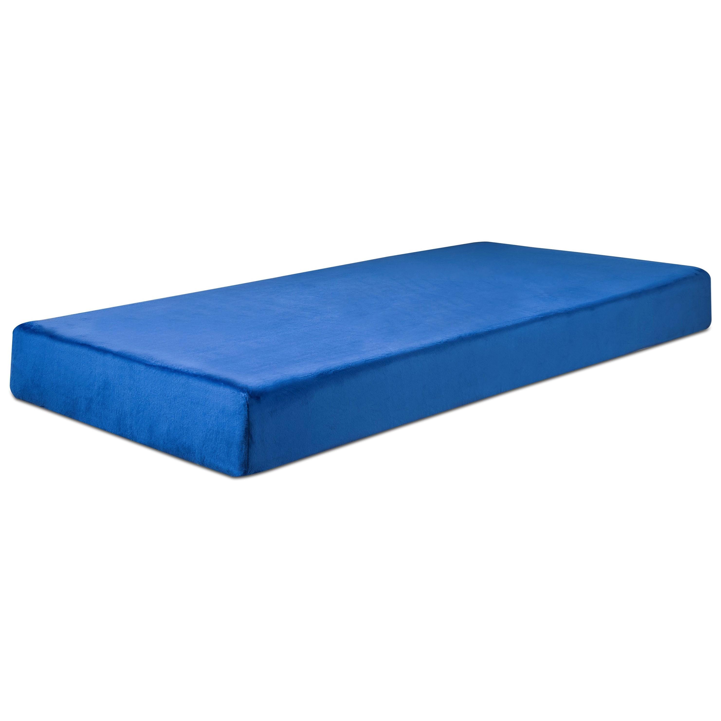 """Twin Blue 7"""" Memory Foam Mattress"""