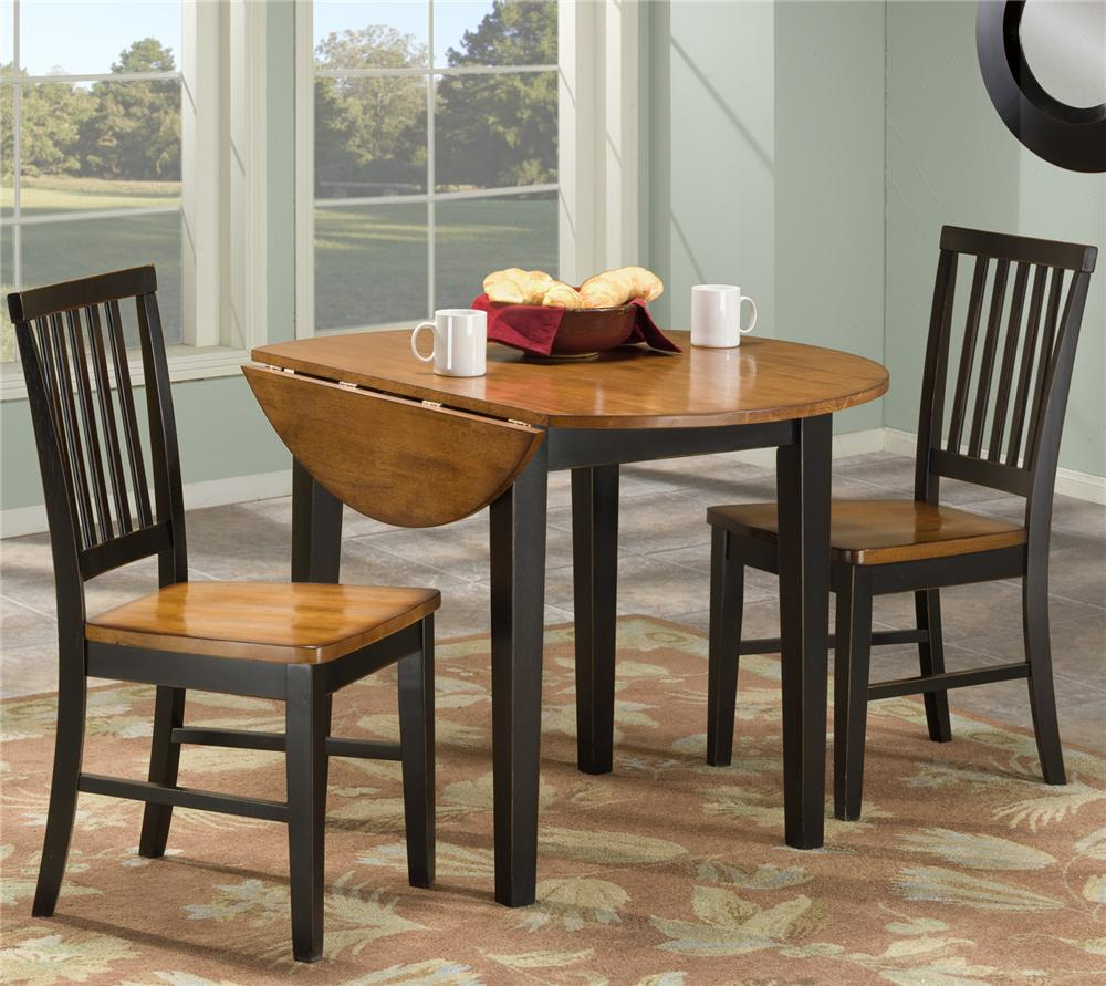 piece set.  piece dining set with two drop leaves by intercon  wolf and