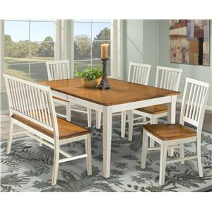 Intercon Arlington Dining Table & Bench & Side Chairs