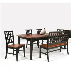 Intercon Arlington Dining Table & Bench with 4 Side Chairs