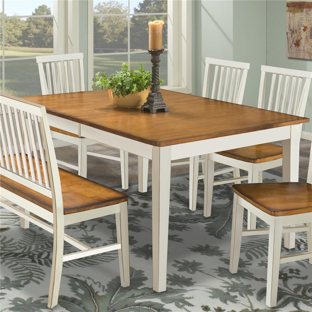 Four Leg Rectangular Dining Table By Intercon Wolf And Gardiner - Shaker dining room chairs