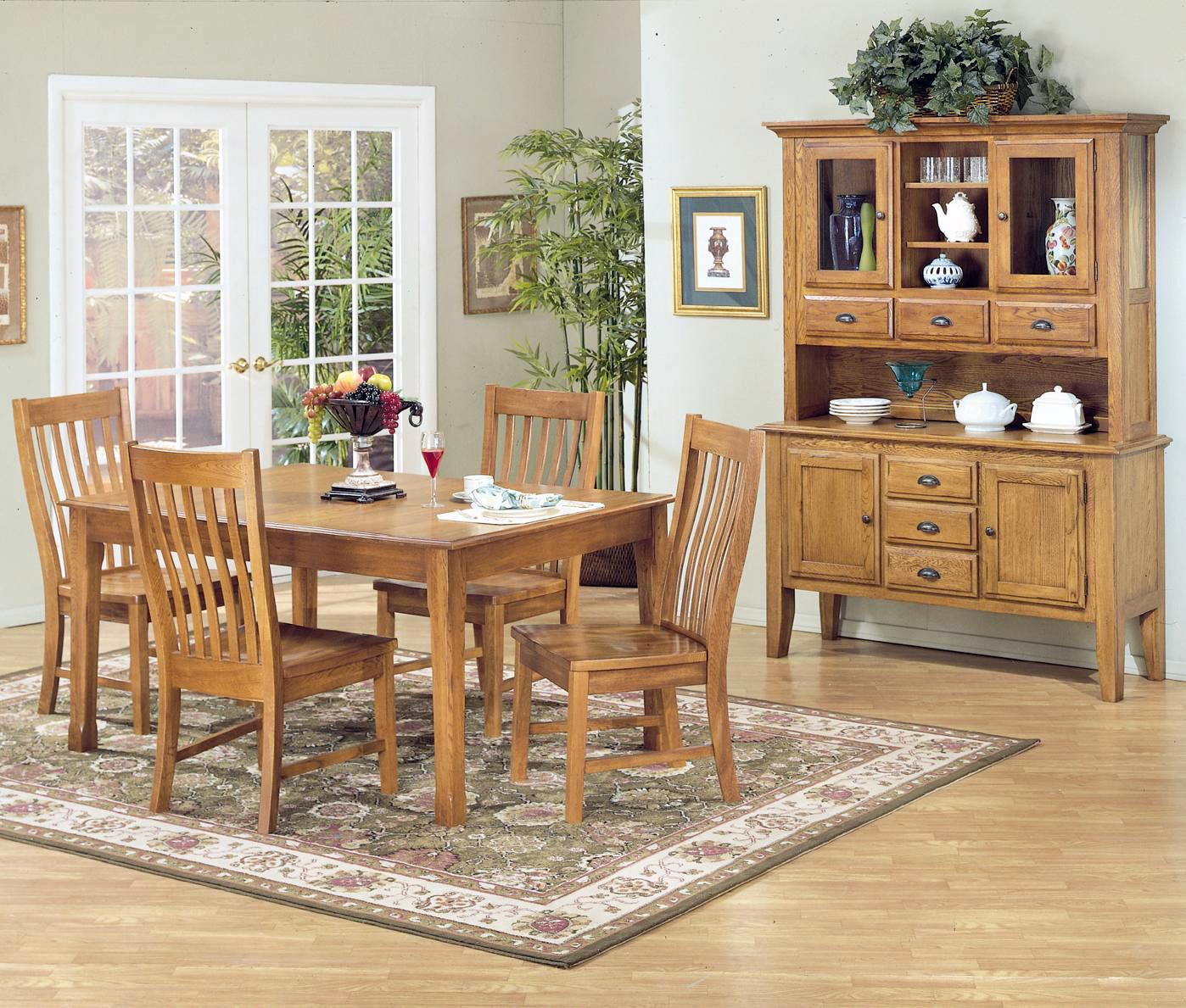 5 Piece Rectangular Dining Table Set