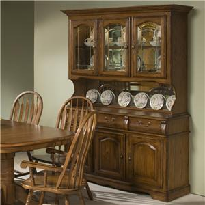 Intercon Classic Oak China Hutch and Buffet