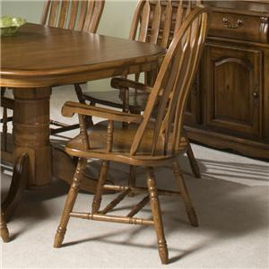 Intercon Classic Oak Dining Arm Chair