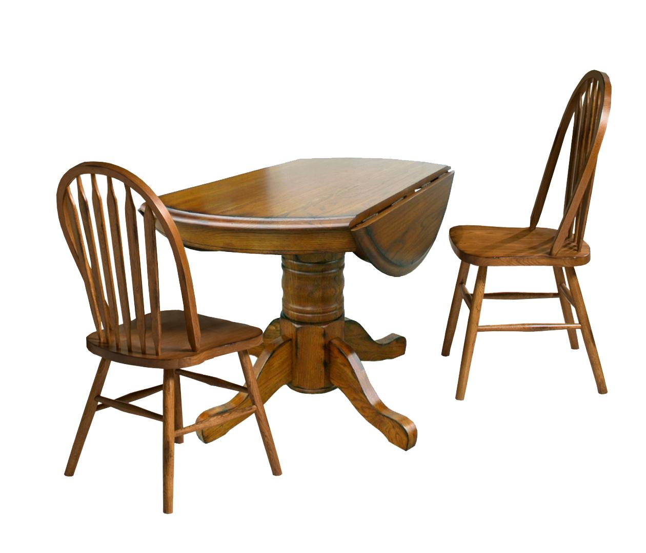 Three piece drop leaf table and chair dining set by for Table and chair set
