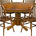 "Intercon Classic Oak 42"" Pedestal Table - Item Number: CO-TA-42D-BRU-BSE+TOP"