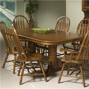 Intercon Classic Oak Trestle Table