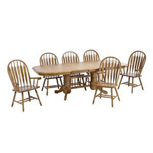 Intercon Classic Oak 7Pc Formica Top Dining Room