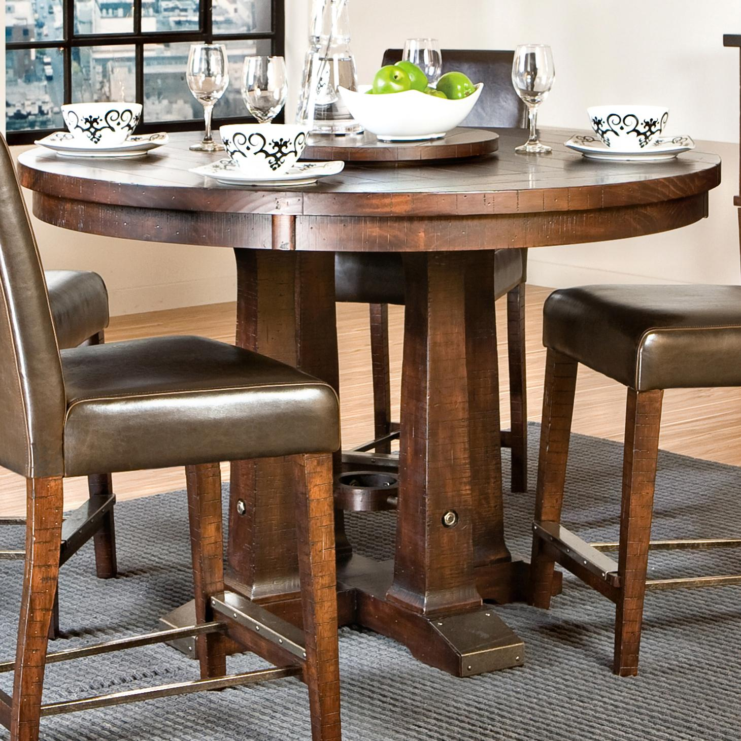 Round Gathering Table With Pedestal Base By Intercon