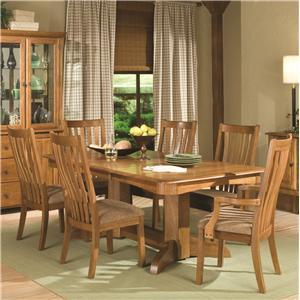 Intercon Highland Park  7 Piece Trestle Dining Set