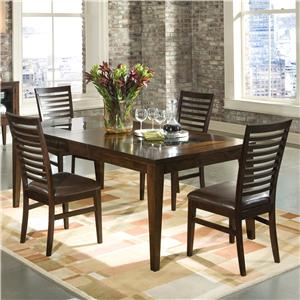 Intercon Kashi Dining Table with Glass Inlay and Chairs