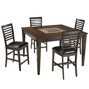 Intercon Kashi Gathering Table and Ladder Back Barstools