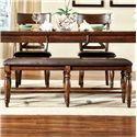 Intercon Kingston  Backless Bench with Cushion - Item Number: KG-CH-5416CB-RAI-RTA