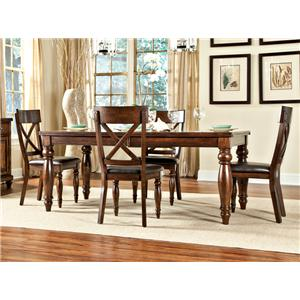 Intercon Caprice Caprice Table + 4 Chairs Set