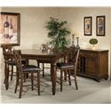 Intercon Kingston  Five Piece Gathering Table and Stool Set - Shown with Wine Server