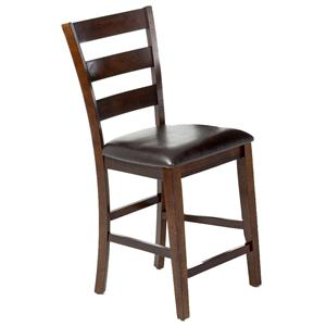 "Intercon Kona 24"" Ladder Barstool w/PU Seat"