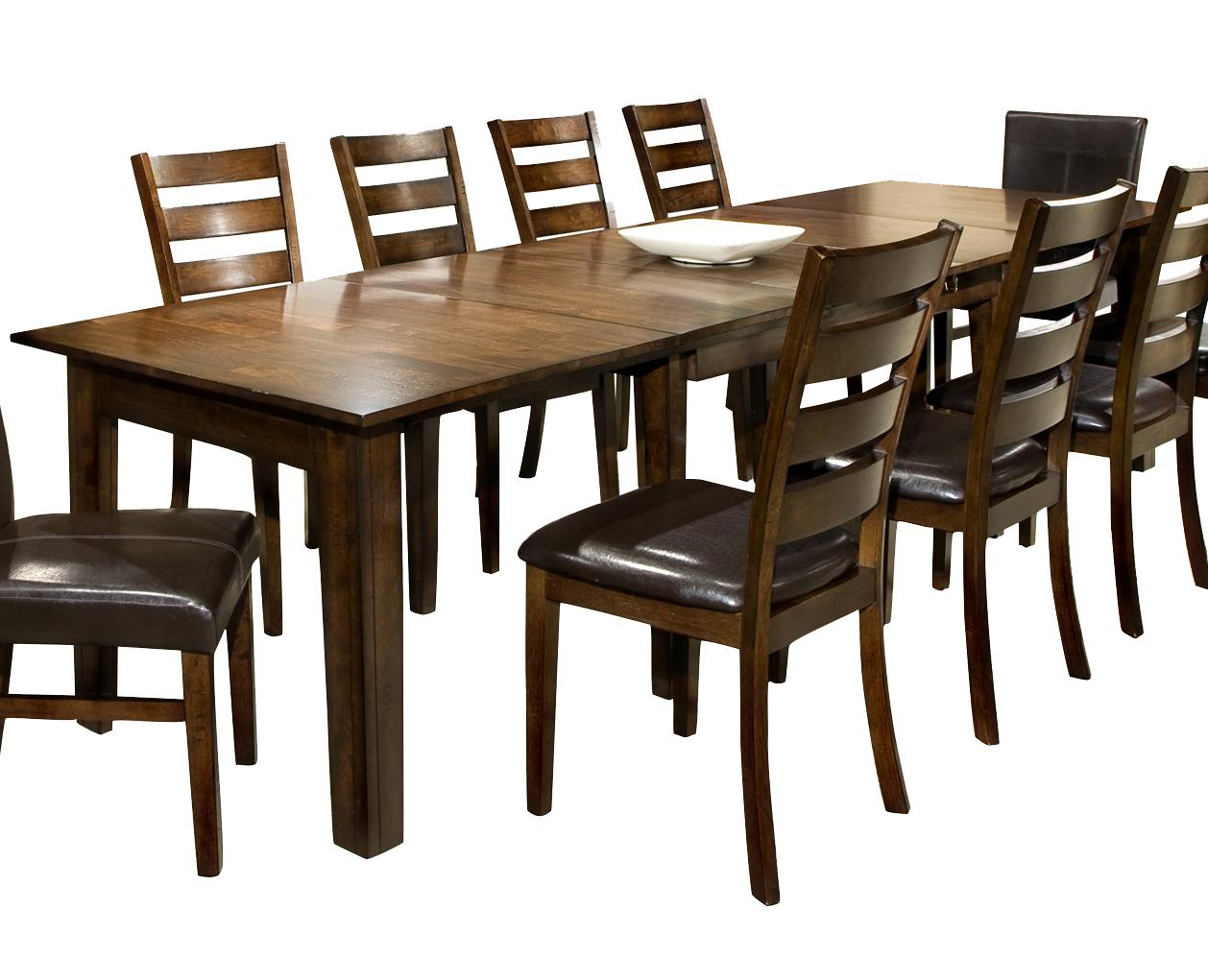 Dining table with 3 leaves