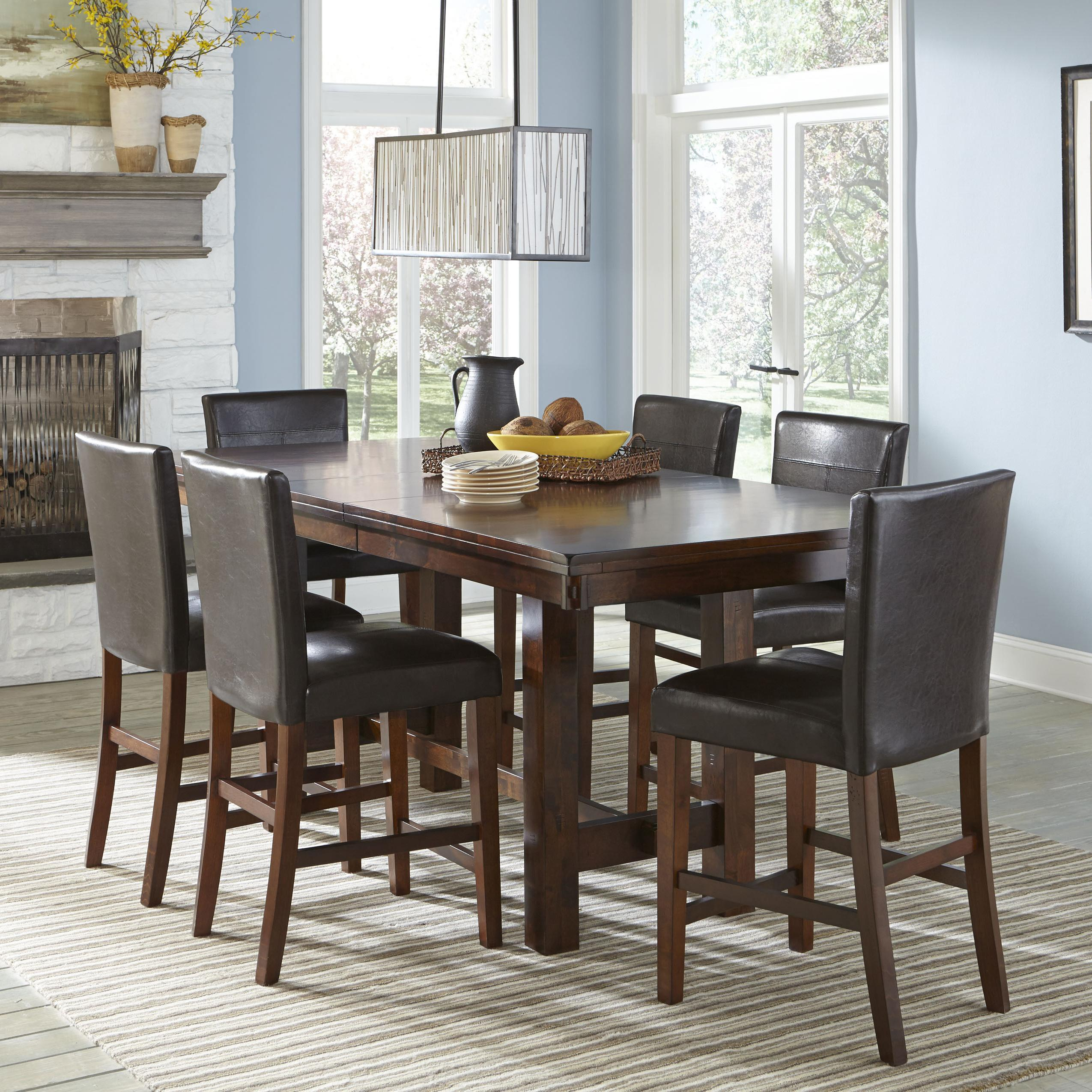 Counter Height Dining Set With Parsons Stools By Intercon