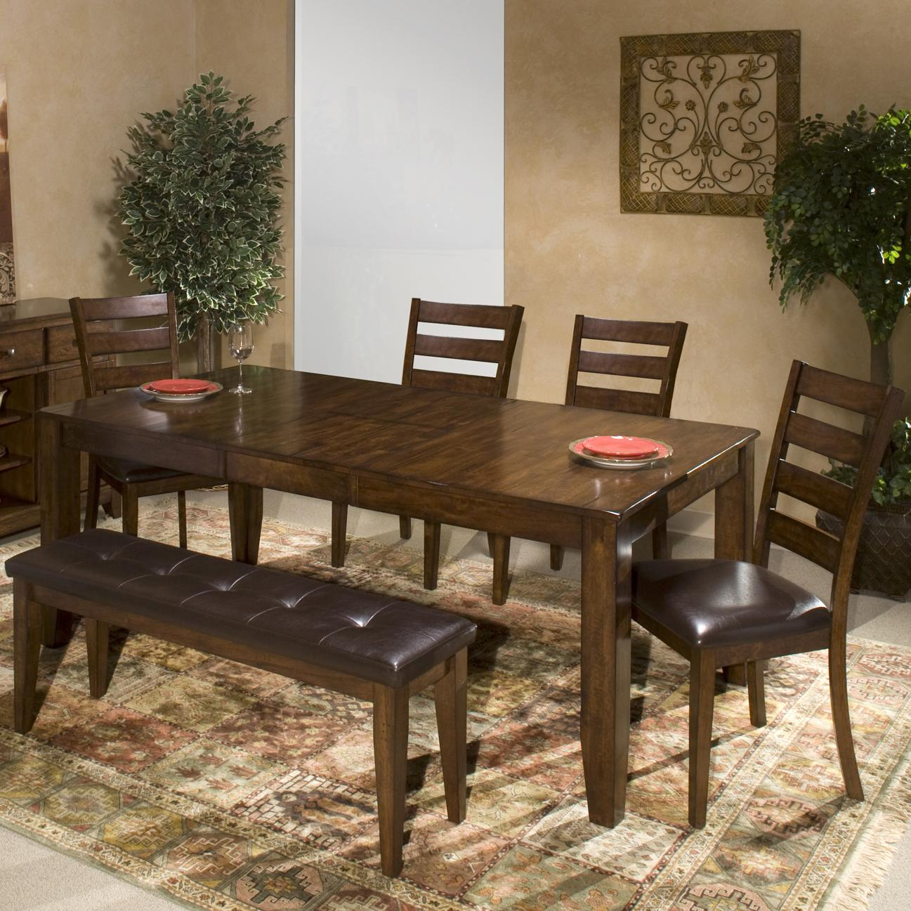 6 piece mango wood dining room set by intercon wolf and for Dining room sets 6 piece