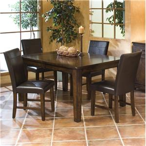 Intercon Kona 5 Piece Dining Set with Parson's Side Chairs