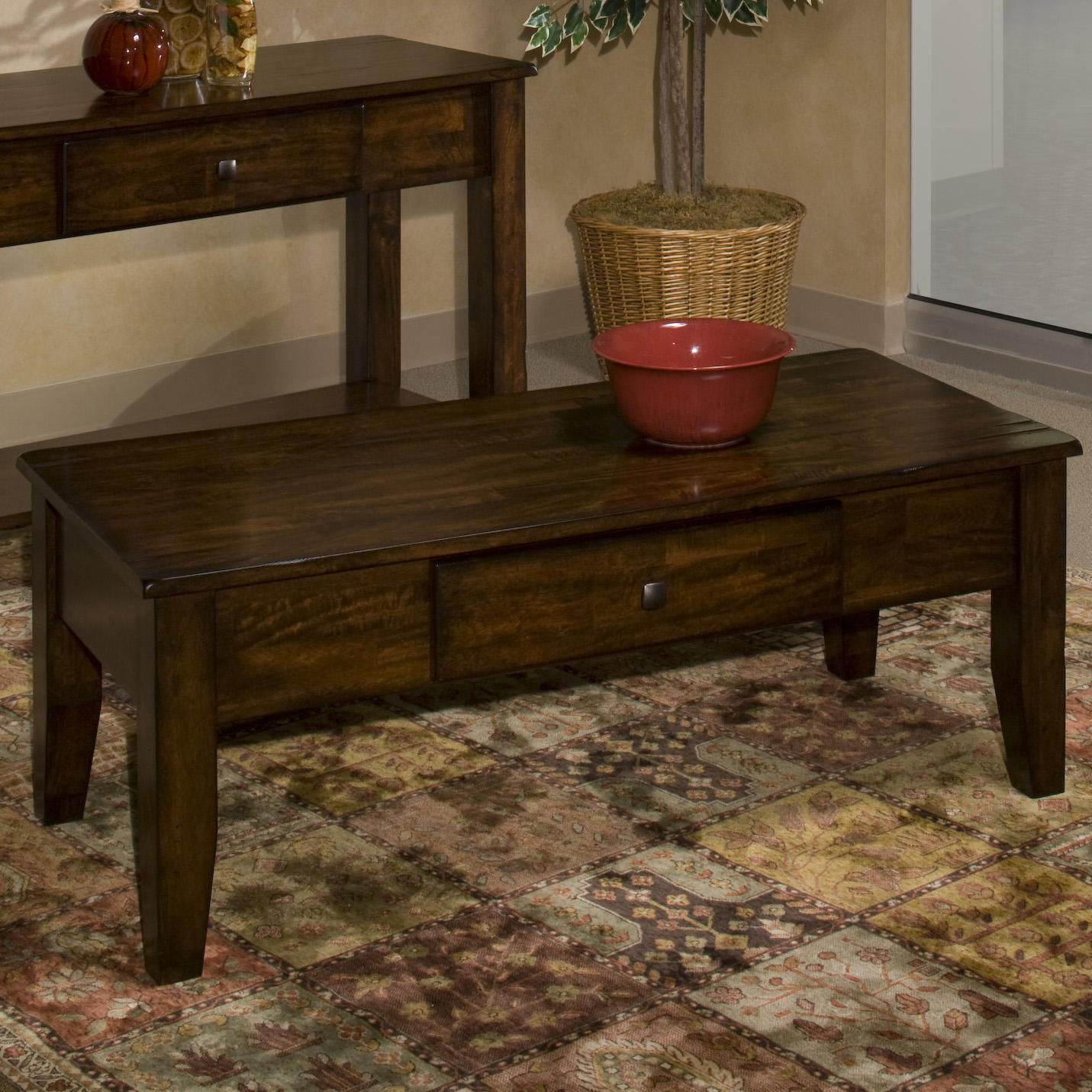 Mango wood coffee table by intercon wolf and gardiner wolf furniture mango wood coffee table geotapseo Gallery