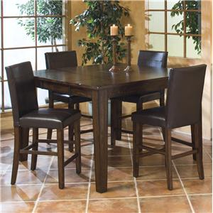 Intercon Kona Gathering Table with Parson's Barstools