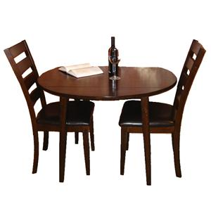 Intercon Kona Drop Leaf Dining Table and Chair Set