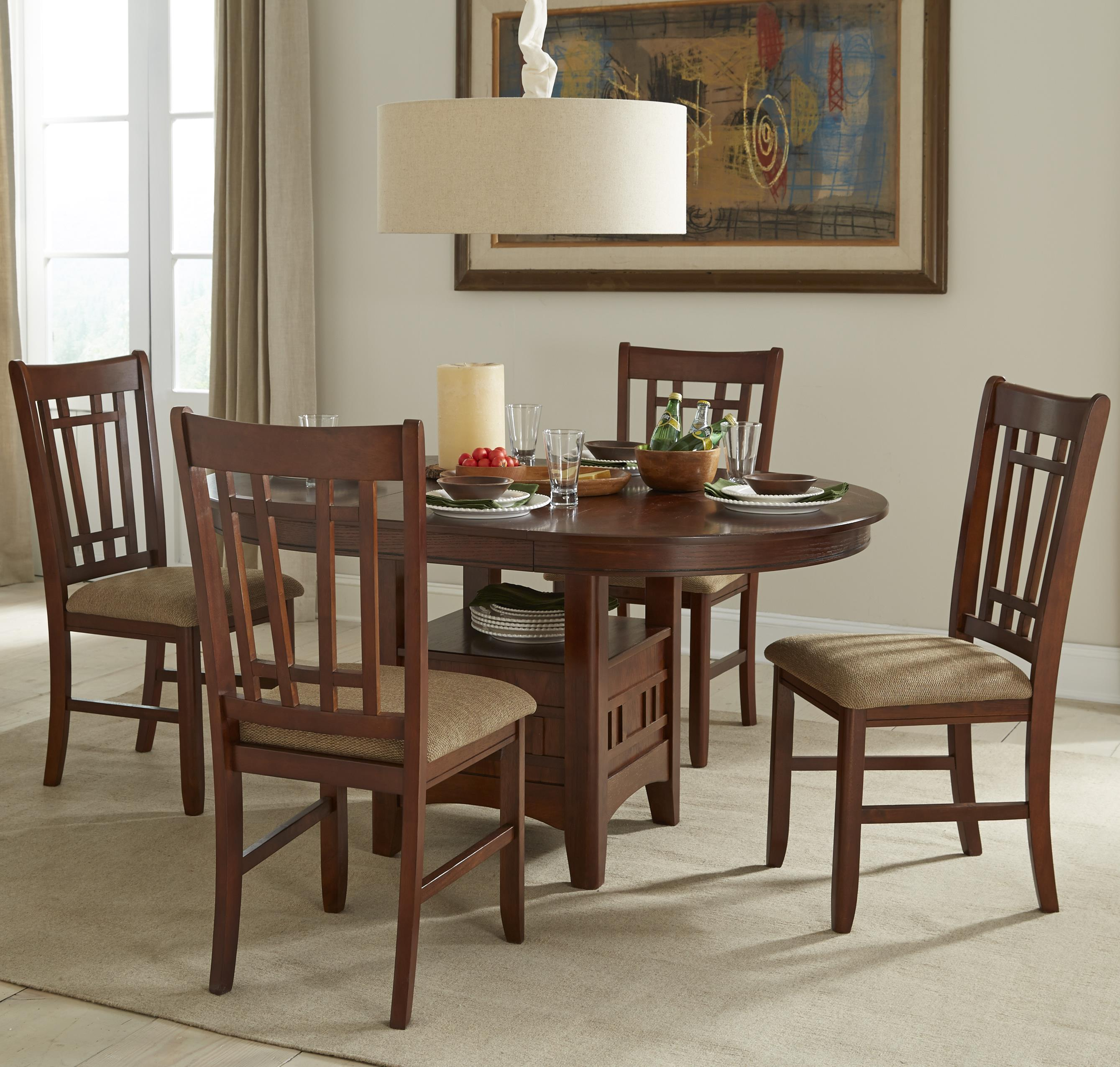 Oval Dining Table Set with Cushioned Side Chairs & Oval Dining Table Set with Cushioned Side Chairs by Intercon | Wolf ...