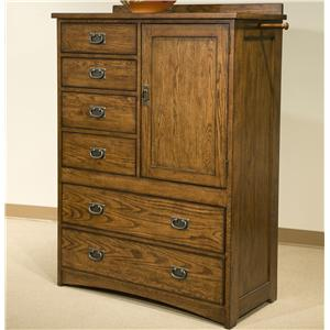 Intercon Oak Park Solid Oak Door Chest