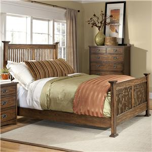 Intercon Oak Park Solid Oak Mission Bed