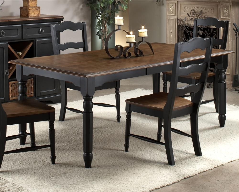 Two Toned Dining Room Sets Two Toned Four Leg Dining Table By Intercon Wolf And Gardiner