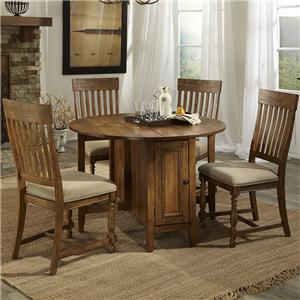 Intercon Rhone Dropleaf Table + 2 Chairs Set