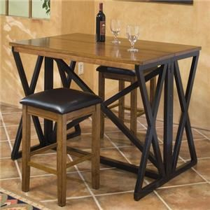 Two-Tone Flip top bar table and 2 barstools