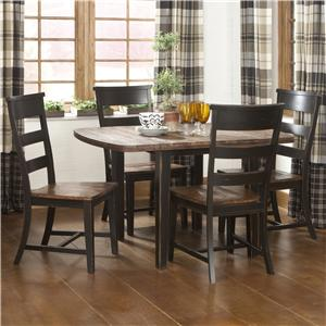 Intercon Winchester 5 Piece Drop Leaf Table Set