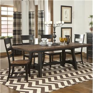 Intercon Winchester 5 Piece Trestle Table Set
