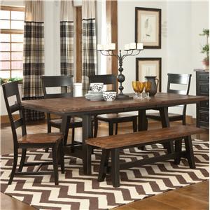 Intercon Winchester 6 Piece Trestle Table Set