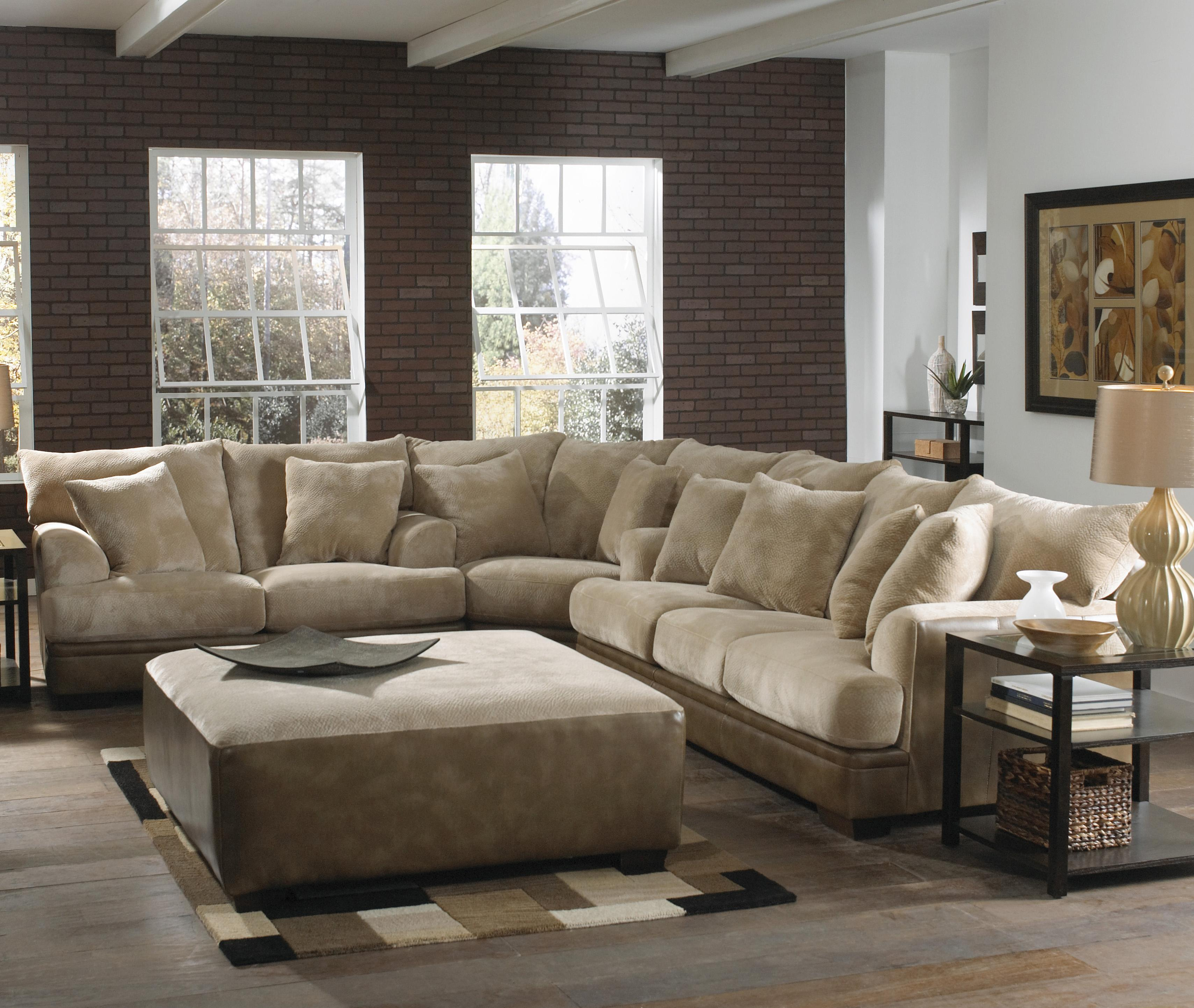Large L-Shaped Sectional Sofa with Left Side Loveseat by ...
