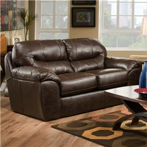 Jackson Furniture Brantley  Blended Leather Loveseat