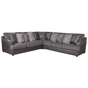 3 Piece Sectional with Track Arms