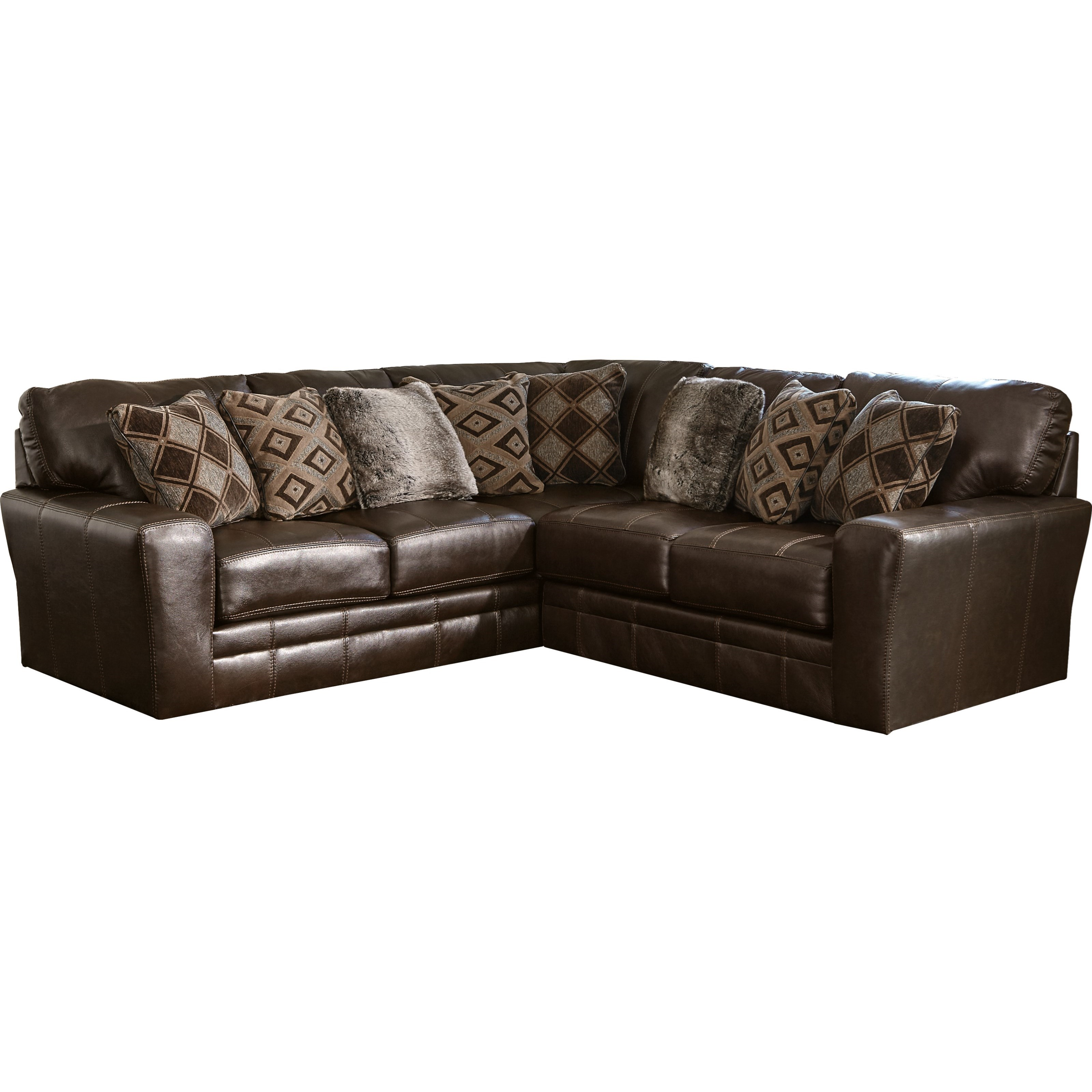 Two Piece Sectional with Track Arms