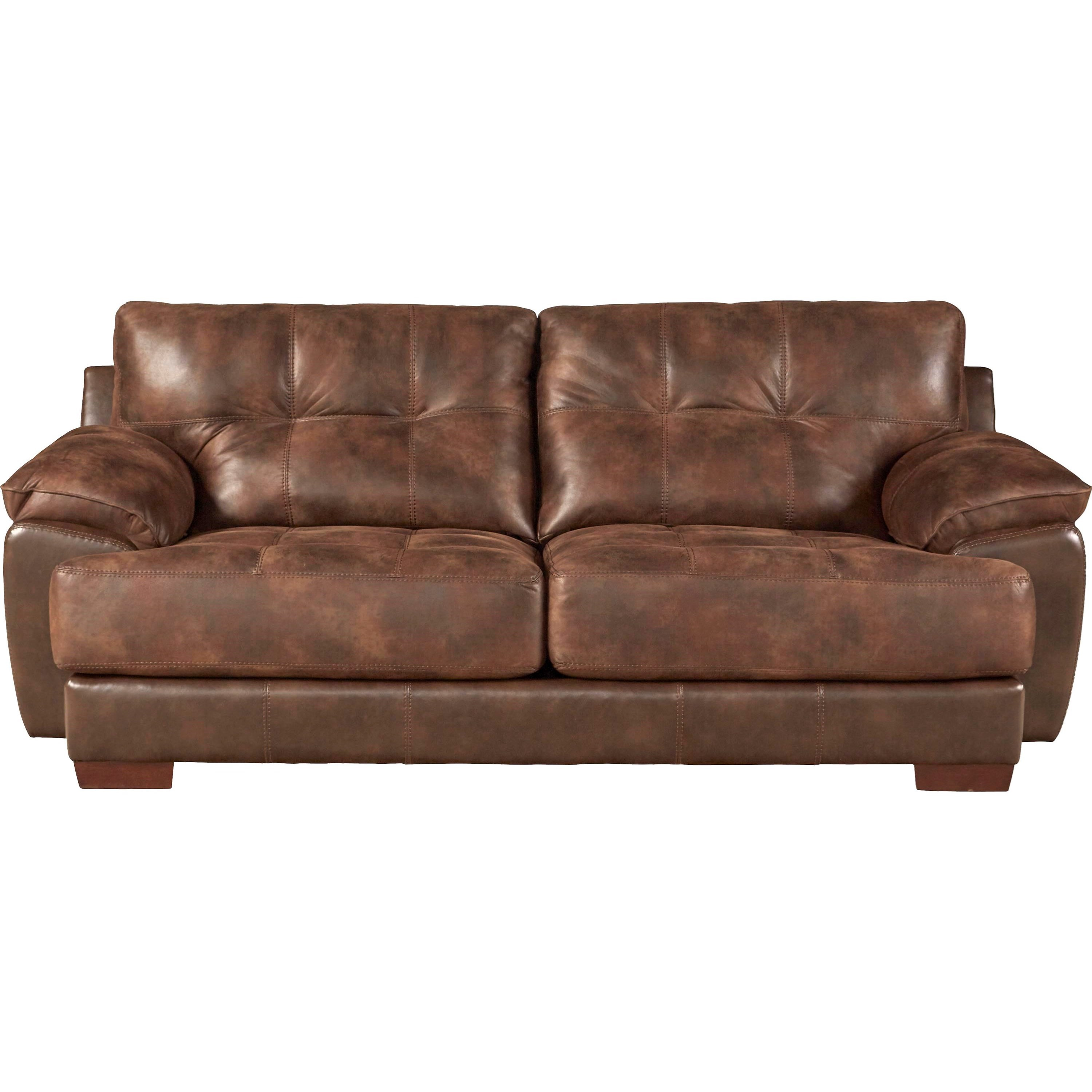 Two Seat Sofa With Exposed Wood Feet By Jackson Furniture