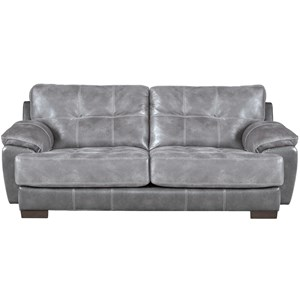 Two Seat Sofa with Exposed Wood Feet