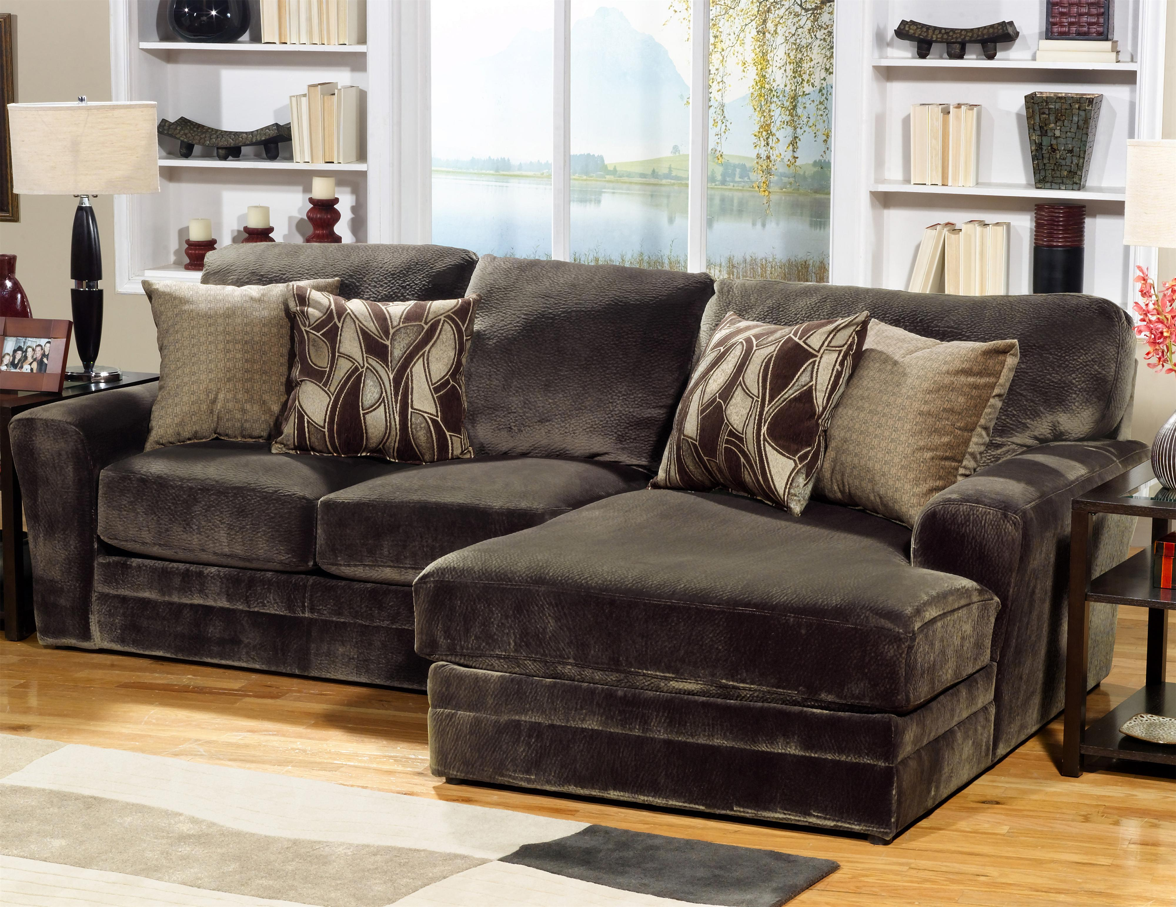 2 piece sectional sofa with rsf chaise by jackson for Alexander sectional sofa chaise