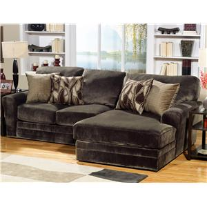 2 Piece Sectional Sofa with RSF Chaise